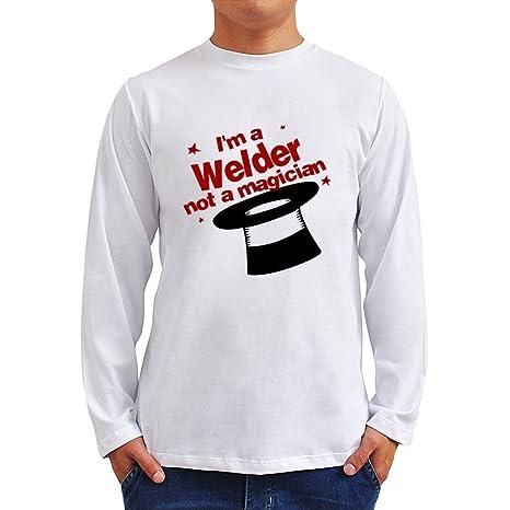 I m a soldador, not a Magician camiseta de manga larga T-Shirt blanco
