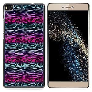 - Abstract Zebra Lines Purple Teal Black - - Monedero pared Design Premium cuero del tir???¡¯???€????€??????????&fnof
