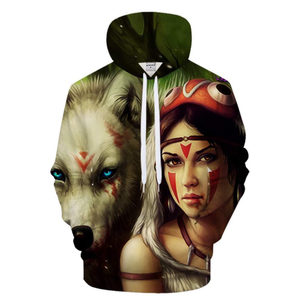 GUQIYA 3D Hoodies Sweatshirts Pullover Lässige Trainingsanzüge