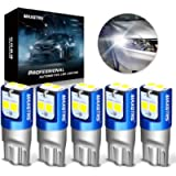 MAXGTS 194 LED Light Bulb 6000K White 168 2825 W5W T10 Wedge 6-SMD 3030 Chipsets LED Replacement Bulbs Error Free for…