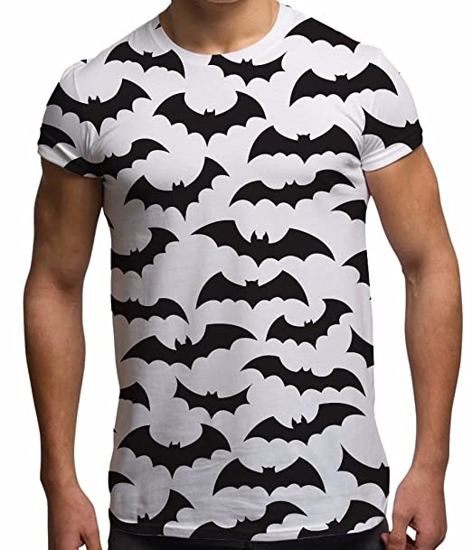 4f28b27c Amazon.com: Bang Tidy Clothing Men's Halloween Tee Sublimation Horror T  Shirt Bats Graphic Tops: Clothing