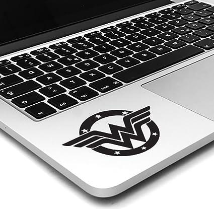 4d3bd884e425 Wonder Woman DC Comic Superhero Trackpad Keyboard Macbook Laptop Vinyl  Decal Sticker (Black)