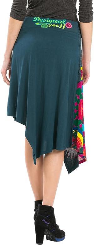 Desigual Arianne - Falda para mujer, color Verde (Multicolor ...
