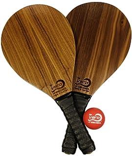 Amazon.com : 2 Frescobol Paddles, 1 Official Ball, Beach Bag ...