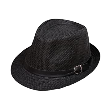 ZARLLE Sombrero De Jazz BritáNico Sombrero De Paja De Sombra De Playa  Transpirable Al Aire Libre 95fe91bdbce