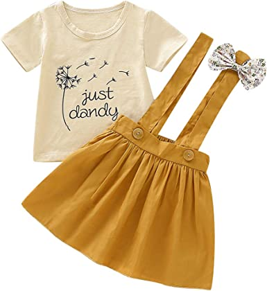 Borlai - Conjunto de Vestido de Verano para niñas bebés, Camiseta ...