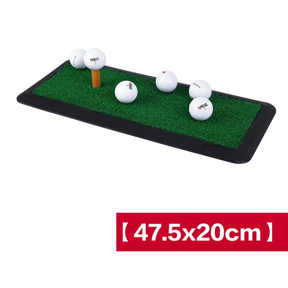 ゴルフ打撃マットラバーヒットパッド屋内練習マット超スリップポータブルファミリースイングボールパッド実用的便利収納(カラー:B、サイズ:47.5cm * 20cm)   B07JZ5L5B3