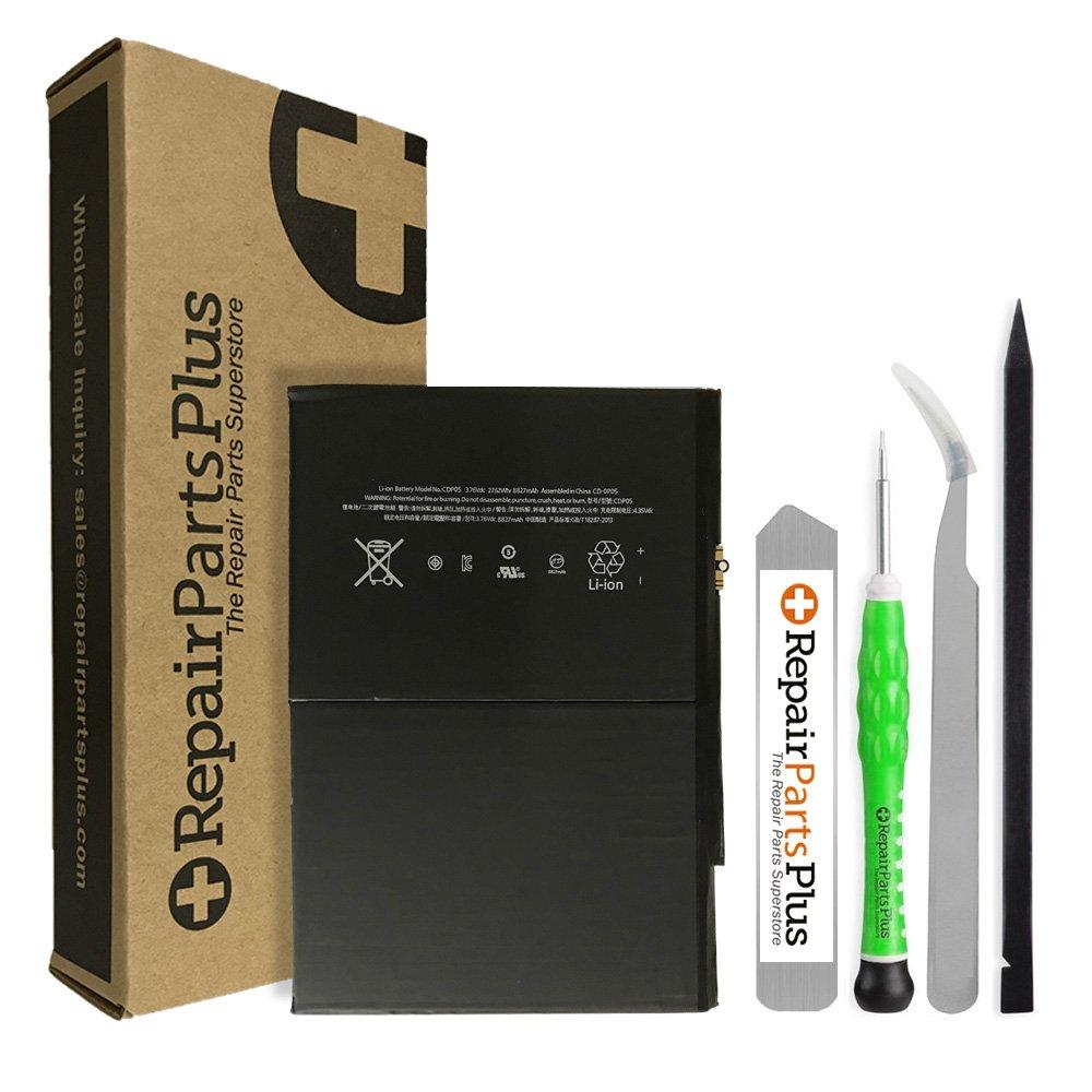 RepairPartsPlus Premium Battery Replacement Kit for Apple iPad Air with Repair Tools and 8827 mAh Li-ion Battery