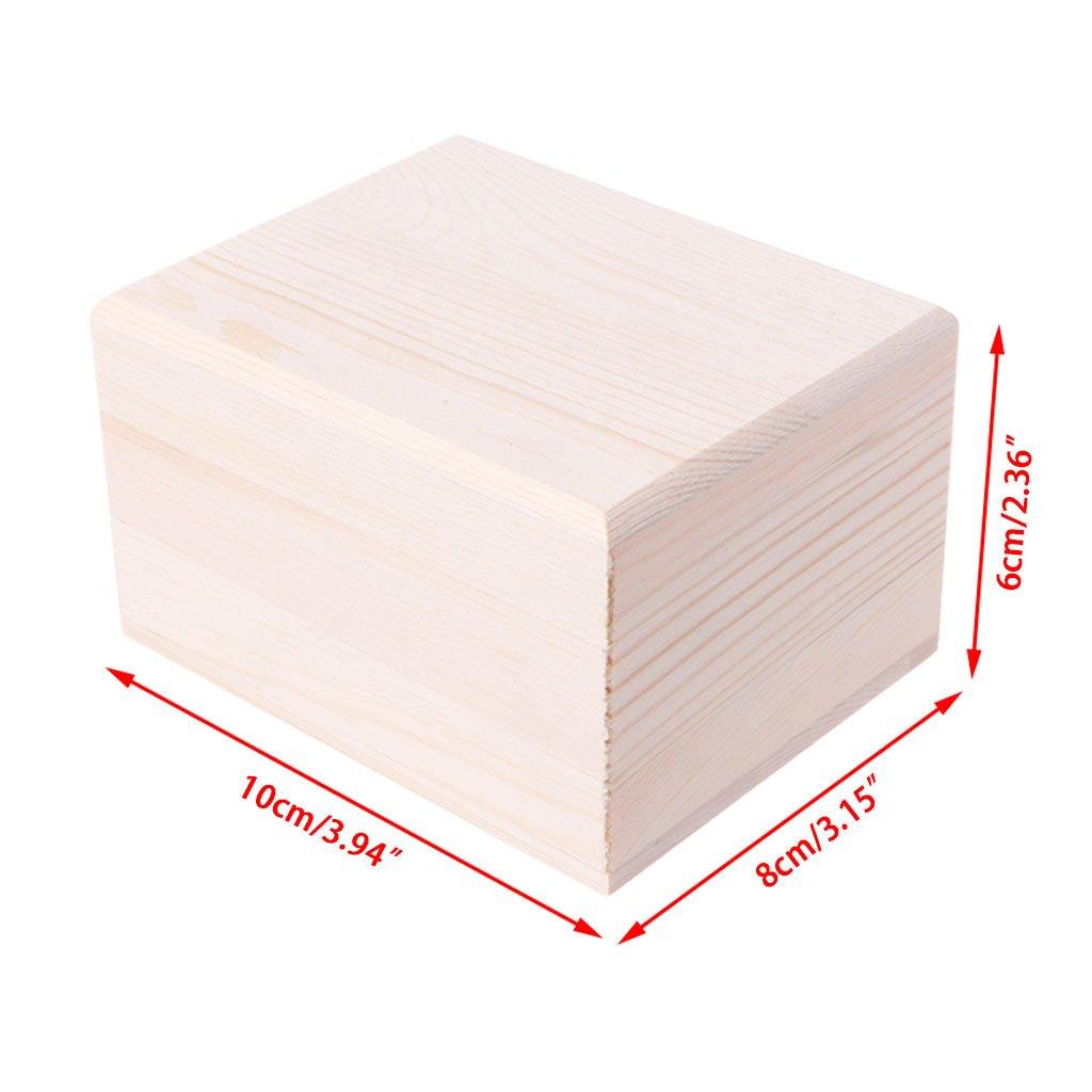 XMPTF Caja de madera hecha a mano con tapa para almacenamiento, organizador de artículos de bricolaje, 2 tamaños, 2#, Inner diameter size: 8.5x ...
