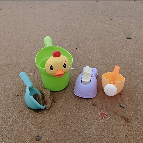 MyToy Soft Beach Sand Play Toys Set 5pcs/set Bucket Rakes Sand Watering Sand Play Bath Toys For Children-Ages 1 and Up (Bucket Bath Set)