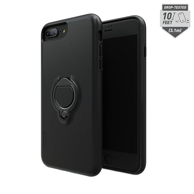 free shipping 1fbfa 49f40 Skech Slim Shockproof Anti-Slip Vortex Hybrid Case for Apple iPhone 8 Plus,  iPhone 7 Plus, 6s Plus - Black
