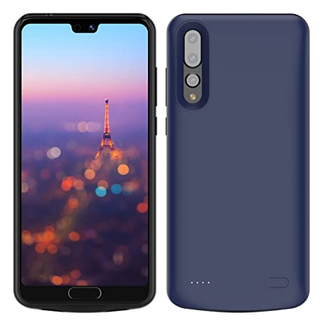 Huawei P20 Pro Battery Case, Moonmini 6000mAh Rechargeable Portable External Battery Pack Power Bank Slim Extended Backup Charging Protective Case ...