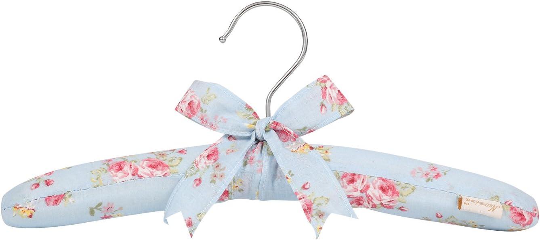 Lot de 5 Bleu Marine//Carreaux Tissu Neoviva Coton Floral en Forme de Cintre avec Ensemble de Couleurs m/élang/ées 12-1//2 for Kids