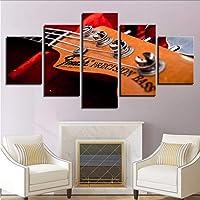 meaosyy [No Frame] Quadro Moderno di Quadri su Tela per La Camera L Stampe HD su Parete Immagini di Quadri 5 Collo Basso per Chitarra Elettrica Poster Decorazioni per La Casa