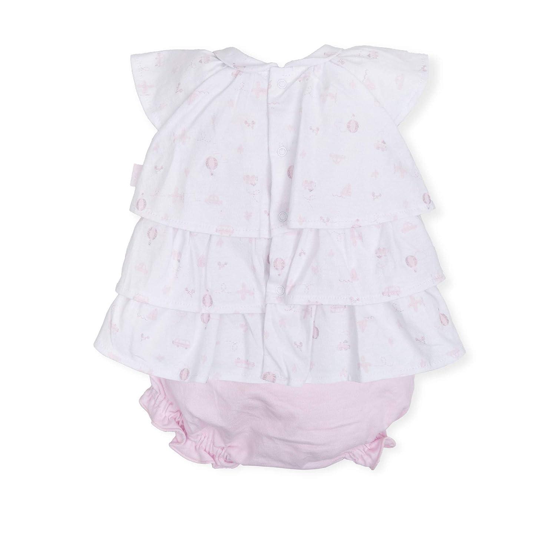 Color Rosa Tutto Piccolo 6782S19 Vestido Beb/é y Ni/ña con Braguita Algod/ón Tallas de 0 a 36 Meses