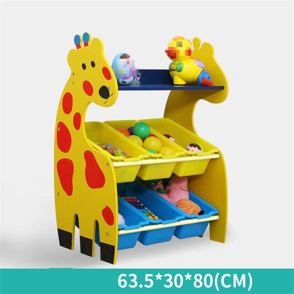 子供用おもちゃ収納ラック 収納ラックを仕上げる子供たち-おもちゃの収納を整理するために赤ちゃんの子供のおもちゃ犬のおもちゃベビー服子供の本 (Color : Yellow, Size : 6)