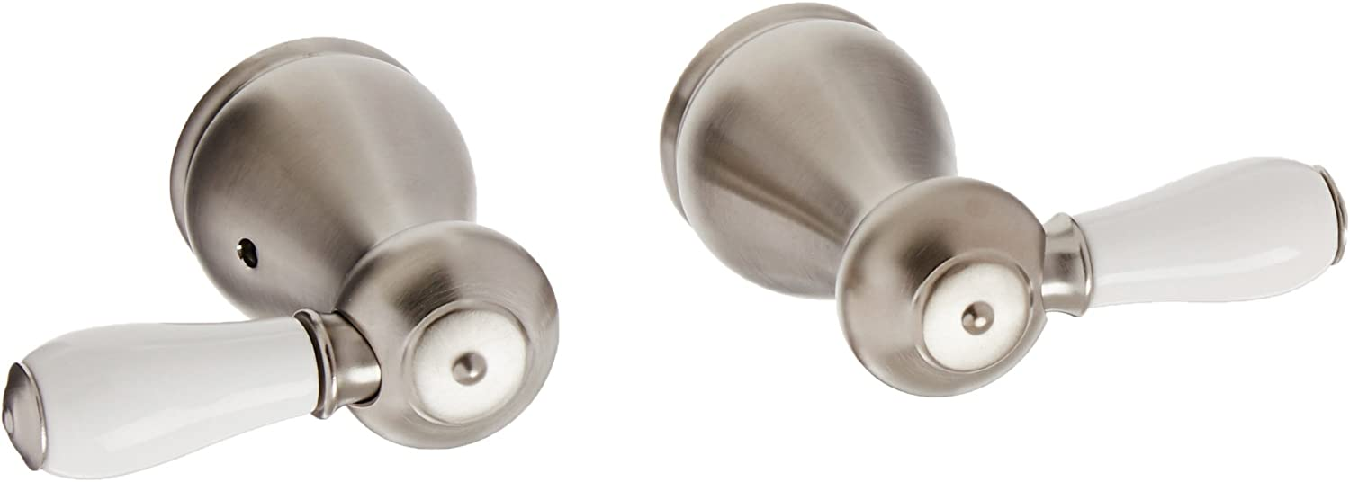 Two Porcelain Lever Handle Kit Delta Faucet H277SS Leland Stainless