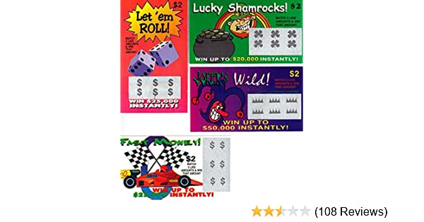 1000 Fake Lotto Tickets Prank Joke Lottery Funny Novelty Gag ~ wholesale set