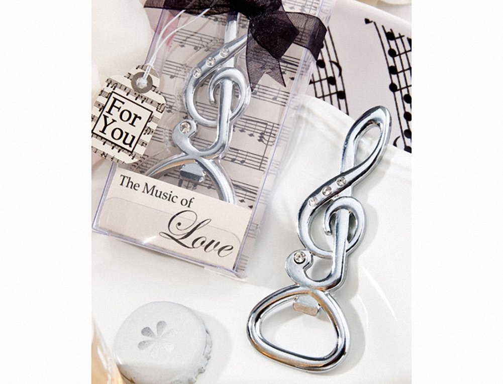 Musical Note Bottle Opener Favors , 96