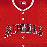 "Licensed MLB Los Angeles Angels Luncheon Party Napkins Tableware, Paper, 6"" x 6"", Pack of 36"