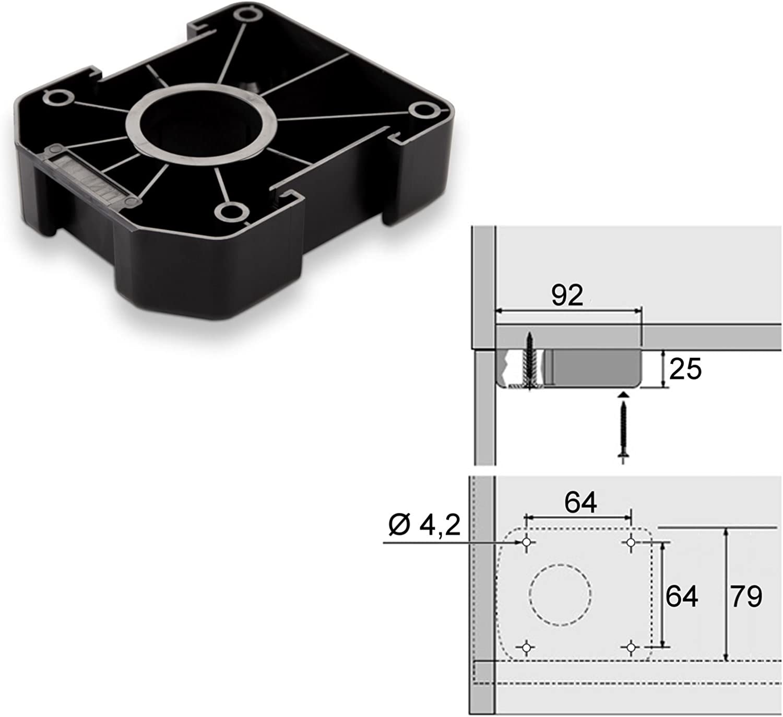 SO-TECH/® Juego de 20 Z/ócalo Mueble Cocina Patas Pl/ásticas Pies para Mueble Patas Regulables Alto 75 mm