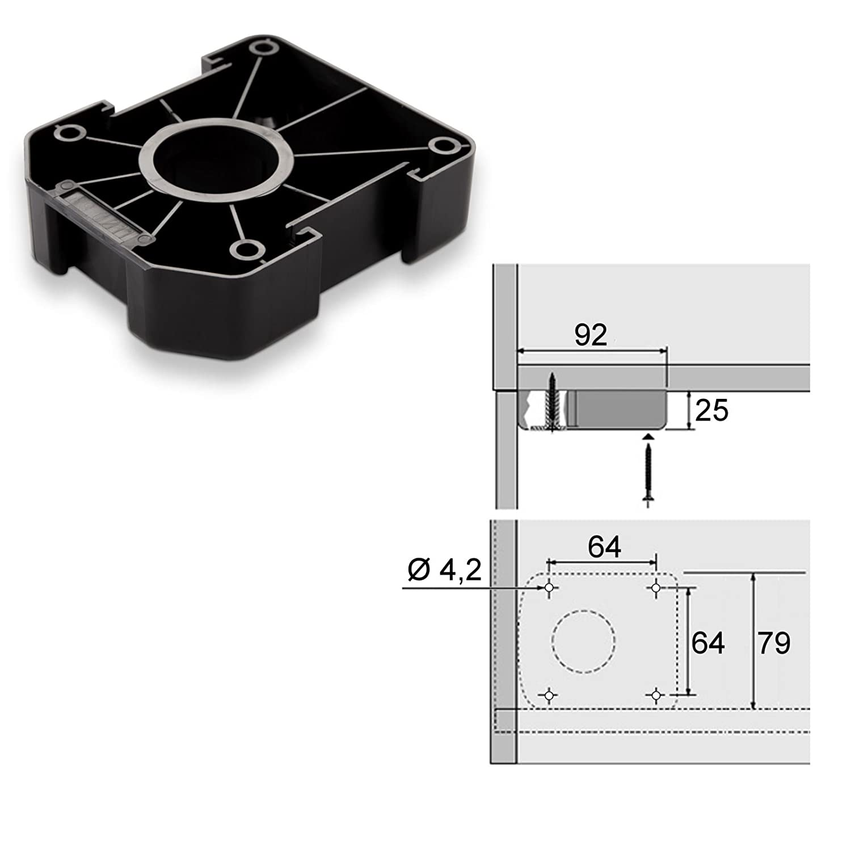 SO-TECH/® Juego de 4 Z/ócalo Mueble Cocina Patas Pl/ásticas Pies para Mueble Patas Regulables Alto 100 mm