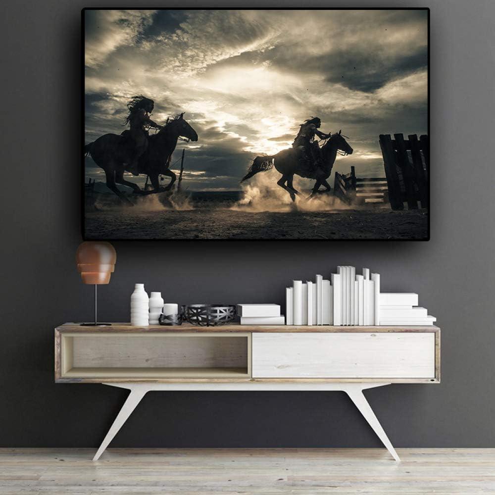 SADHAF HD print caballo galopante sobre lienzo Navia póster e impresiones Living Art decoración mural A1 30x40cm