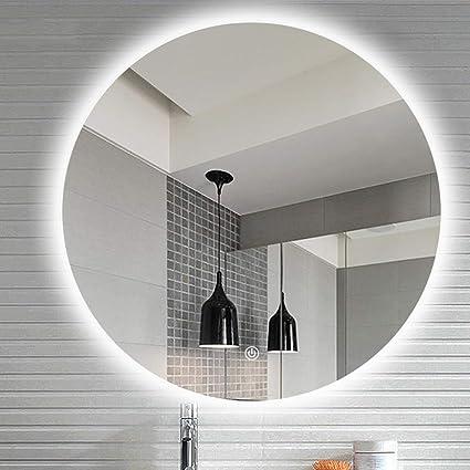 avec Miroir de Salle de Bains Miroir à LED avec Suspension ...