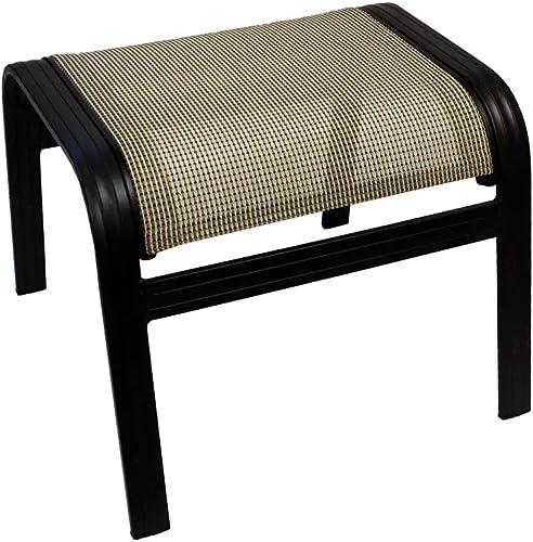 J M Patio Outdoor Ottoman 17″ H Aluminum Relaxing Footstool
