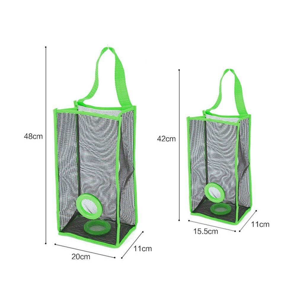 BESTOMZ Organizador de bolsas de pl/ástico Dispensador Bolsas De Basura en Malla Dispensador de bolsas de pl/ástico para la cocina Verde