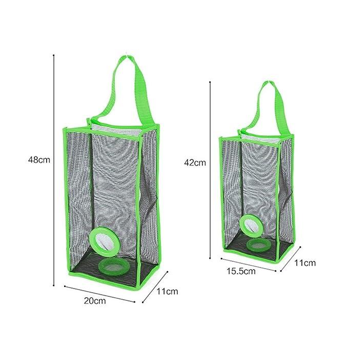 BESTOMZ Organizador de bolsas de plástico Dispensador Bolsas De Basura en Malla Dispensador de bolsas de plástico para la cocina (Verde): Amazon.es: Hogar