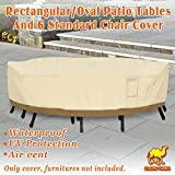 Strong Camel Rectangular Table/Chair 130'' L Cover Patio Garden Outdoor Furniture Winter Protect Large