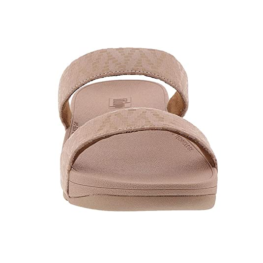 96e1a01dfa0 Fitflop Lottie Chevron Slide Sandal 2019 Oyster Pink  Amazon.co.uk  Shoes    Bags