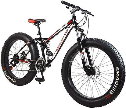 AISHFP Fat Tire Bicicletas de montaña para Adultos, Playa Moto de ...