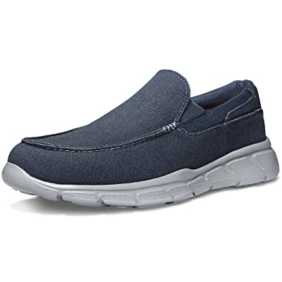 TSLA Men's Slip-on Loafer Performance Sport Active Fashion Cushion Sneaker: Sports & Outdoors