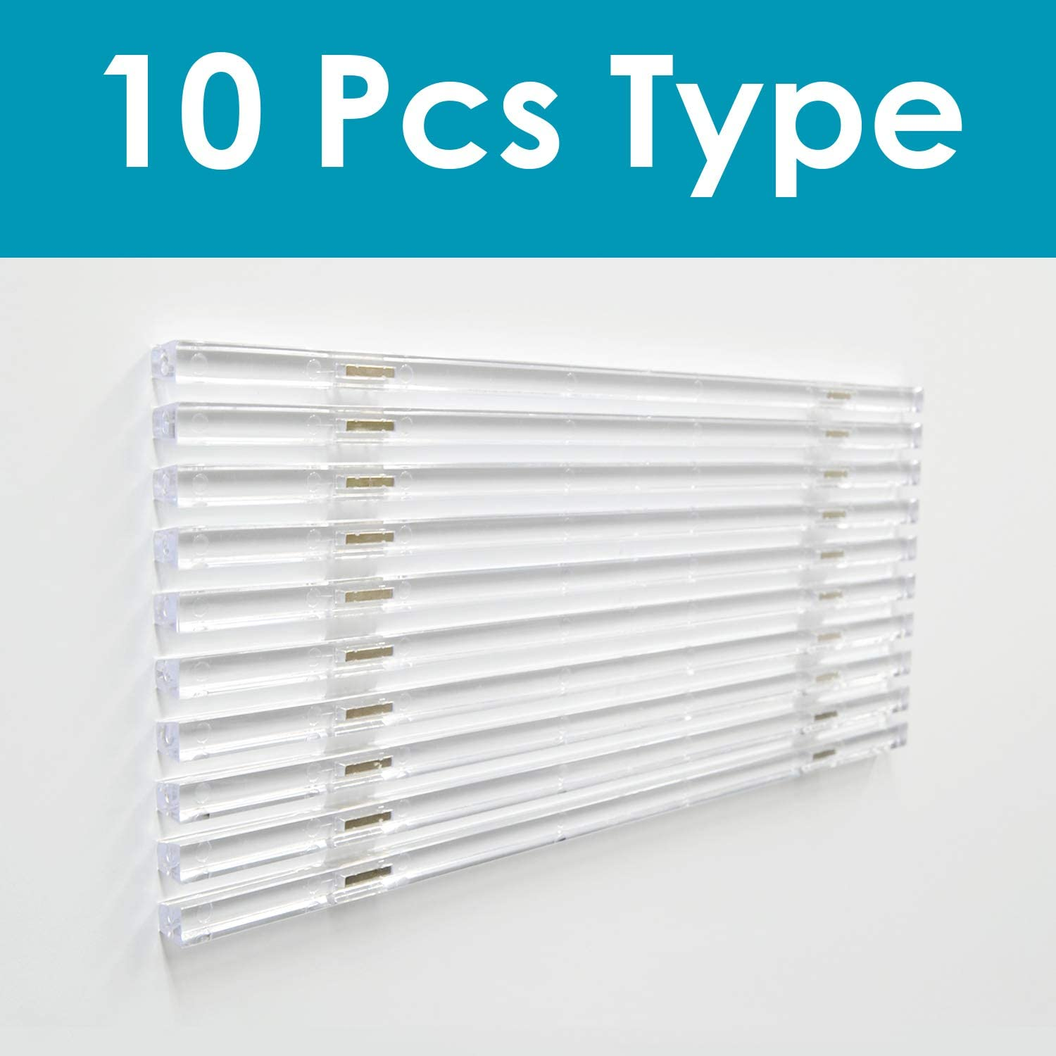 MagX Magnetic Paper Holder Stopper Slim Type Bar (clear) office school supplies 10 pcs type designed by Japan