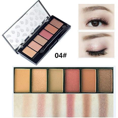 Lameila 6 Colores Paletas de Sombras de Ojos Mate y ...