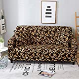 Lamberia Printed Sofa Cover Stretch Couch Cover Sofa Slipcovers for 3 Cushion Couch with One Free Pillow Case (Venus, Sofa-3 Seater)