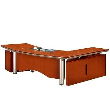 Buero Büromöbel Chef Schreibtisch Herne Echtholz Kirschbaum von Jet ...