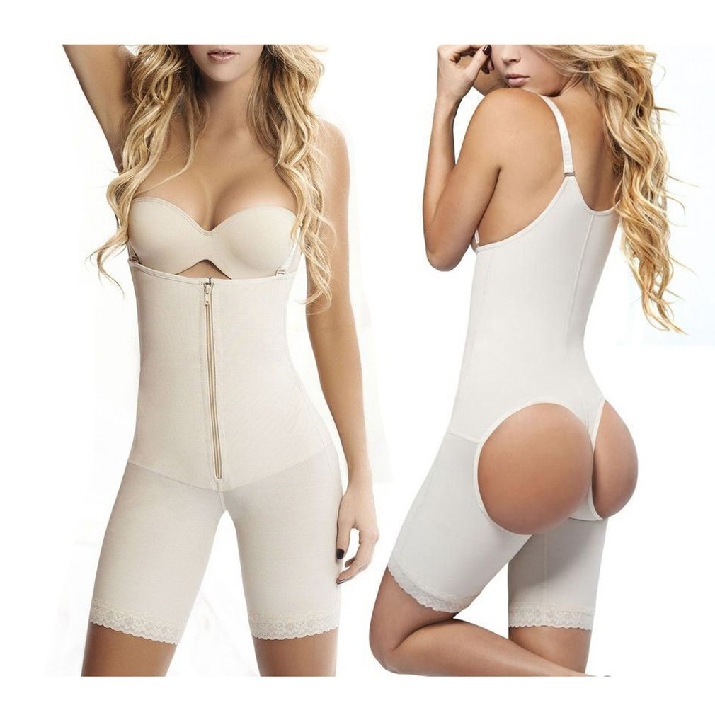 666dd604710 Zarbrina Women s Seamless Firm Control Shapewear Faja Open Bust Bodysuit  Body Shaper at Amazon Women s Clothing store
