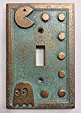 Pac-Man Light Switch Cover (Custom) (Aged Patina)