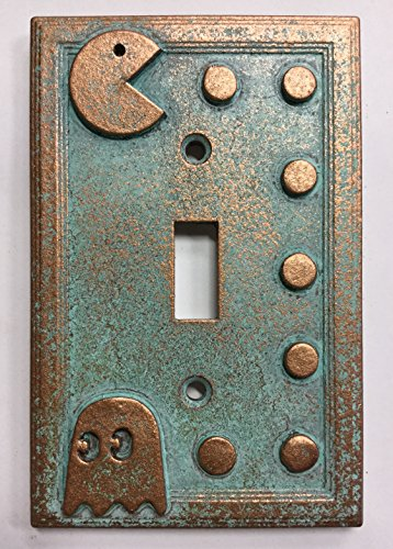 Pac-Man Light Switch Cover (Custom) (Aged Patina) for sale  Delivered anywhere in Canada