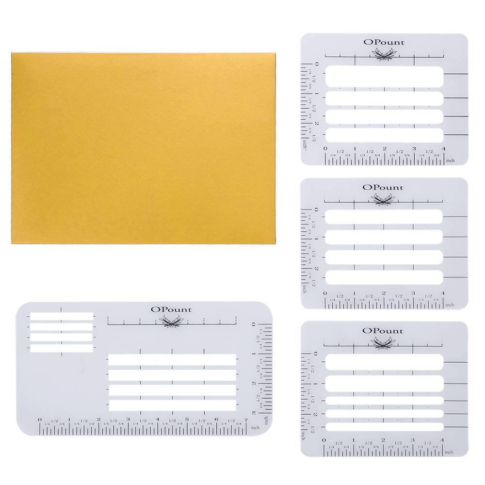 Mothers Day OPount 5Pcs 4 Style Envelope Addressing Guide Stencil Templates Fits Wide Range of Envelopes Sewing Thank You Card