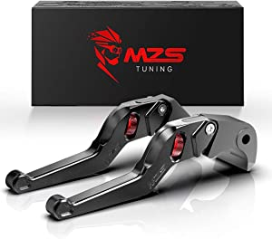 MZS Black Short Levers Wheel Roller Brake Clutch Adjustment Compatible with FZ-07 FZ07 MT-07 MT07 FZ-09 FZ09 MT09 FJ-09 FJ09 MT-09 Tracer FZ1 FZ6 Fazer FZ6R FZ8 XJ6 Diversion XSR 700 900 ABS