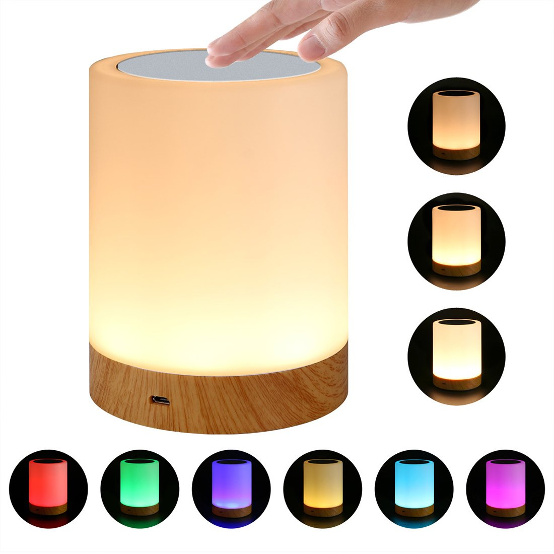 Comeon Bluetooth Speaker Lamp,Smart Touch Control Dimmable Color Lamp for Bedroom Sleeping Aid,Best Gift for Kids,Teens and Adults