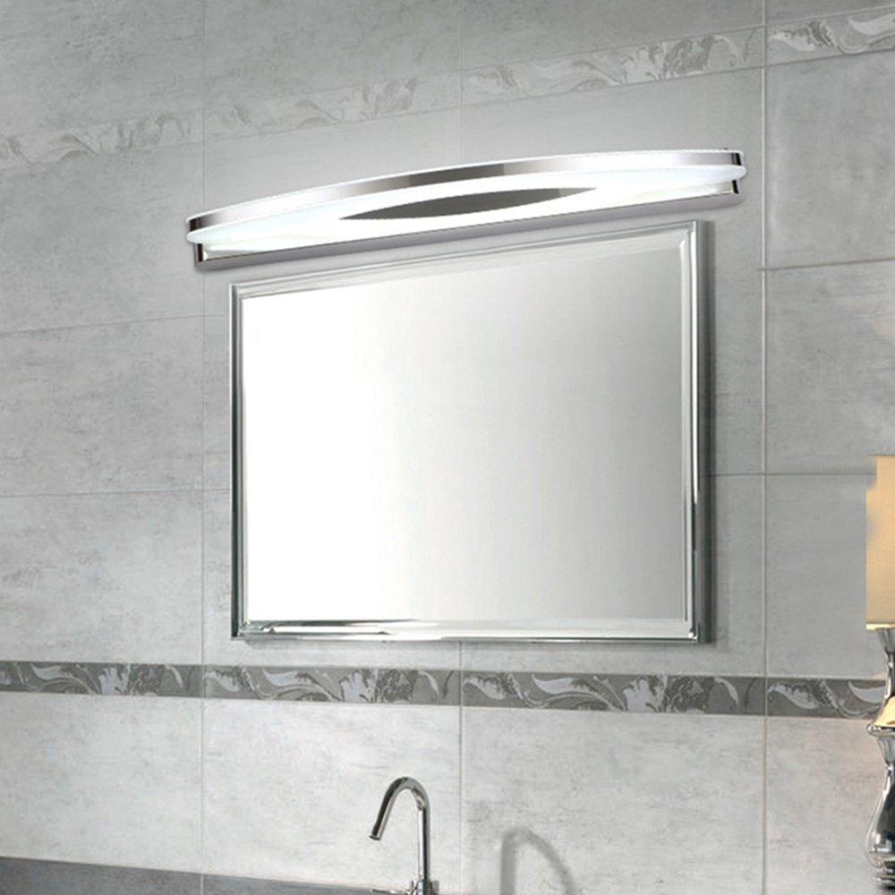 12W Kaltwei/ß Spiegelleuchte Spiegellampe Badleuchte Badlampe Wandleuchte Schranklampe Bilderlampe Flurleuchte Edelstahl Wasserdicht IP65