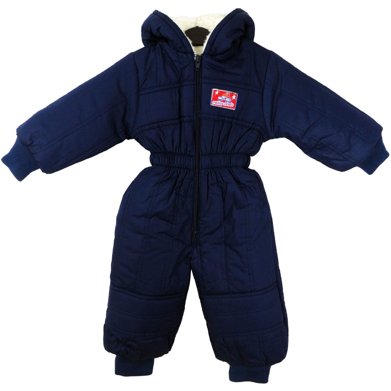 Toddler Baby Baby Kids Winter Warm Hooded Romper Fleece Boy Girl Snowsuit Winter Bodysuit Outfit Navy Size 12Months - 4YrsUK