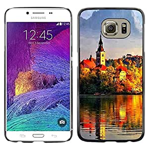 Paccase / SLIM PC / Aliminium Casa Carcasa Funda Case Cover - Sunset Beautiful Nature 95 - Samsung Galaxy S6 SM-G920