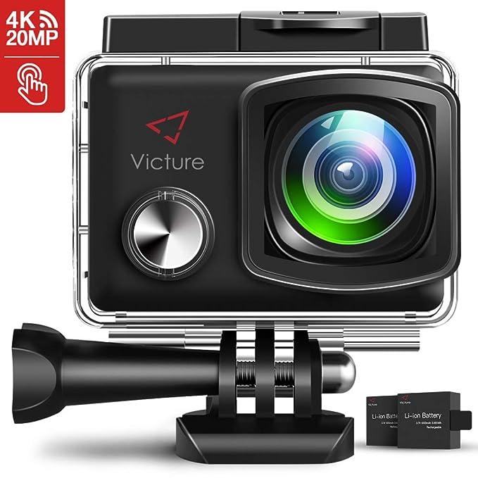 150 opinioni per Victure Action Cam 4K Schermo a Touch 20MP WiFi Ultra Full HD 30M/98 Piedi