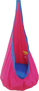 Kids Hanging Cocoon with Pocket, Hanging Hammock Pod, Indoor and Outdoor Fun, Reading, Relaxation, Sensory and Autism Therapy, Easy to Hang and Comfortable Chair, Girls and Boys